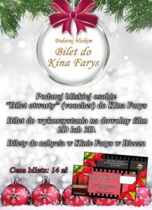 Podaruj bliskiej osobie bilet do Kina Farys